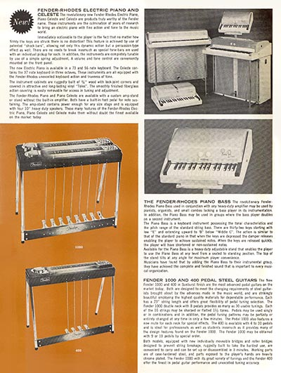 1963 1964 Fender guitar catalog page 6