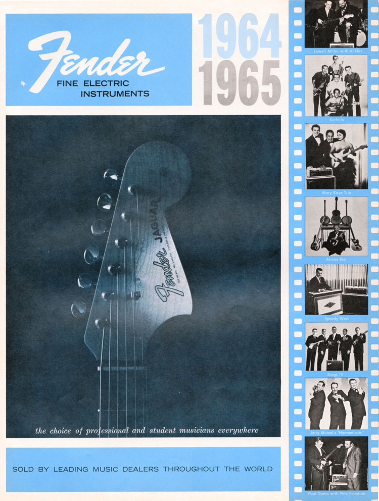 1964 1965 Fender guitar catalogue front cover