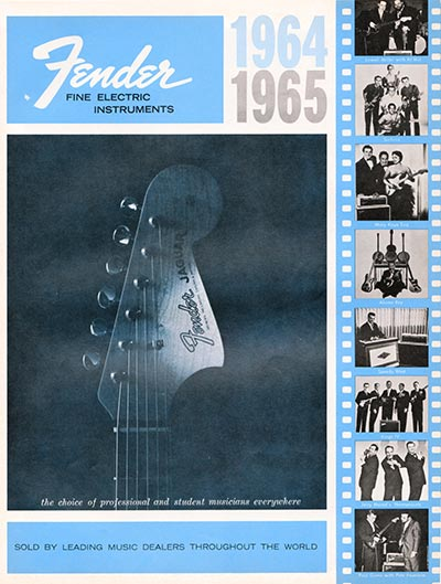 1964 1965 Fender guitar catalogue cover