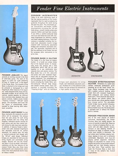 1964 1965 Fender guitar catalogue page 2
