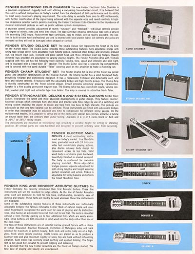 1964 1965 Fender guitar catalogue page 7