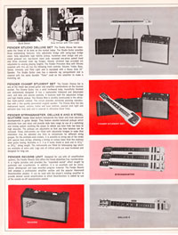 1965 1966 Fender guitar catalog page 10