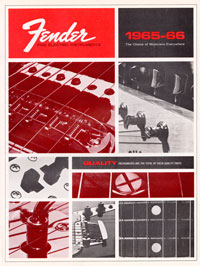 1965 1966 Fender guitar catalogue cover