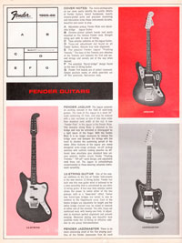 1965 1966 Fender guitar catalog page 2