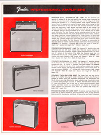 1965 1966 Fender guitar catalog page 6