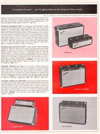 1965 1966 Fender guitar catalog page 7