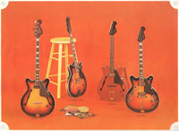 1966-67 Fender guitar and bass catalogue page 28 - Fender Coronado I, II, XII and bass