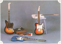 1968 Fender guitar and bass catalogue - page 8 - Image of the 12-String, Telecaster and Esquire solid electric guitars
