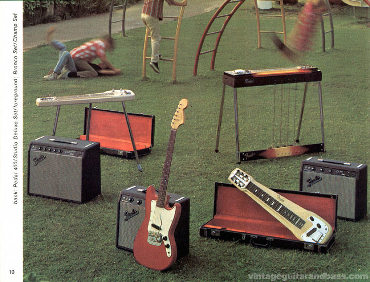 Fender Pedal 400, Studio Deluxe set, Bronco set, Champ set - 1968 Fender catalogue - page 12