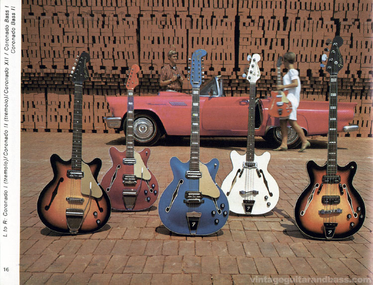 Fender Coronado I, II and XII and Coronado Bass I and II - 1968 Fender catalogue - page 18