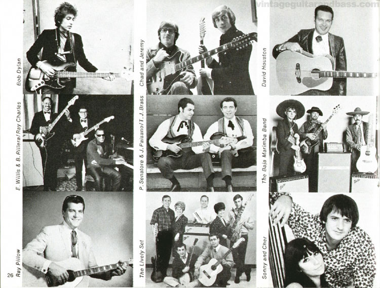 Fender Artists - 1968 Fender catalogue - page 28