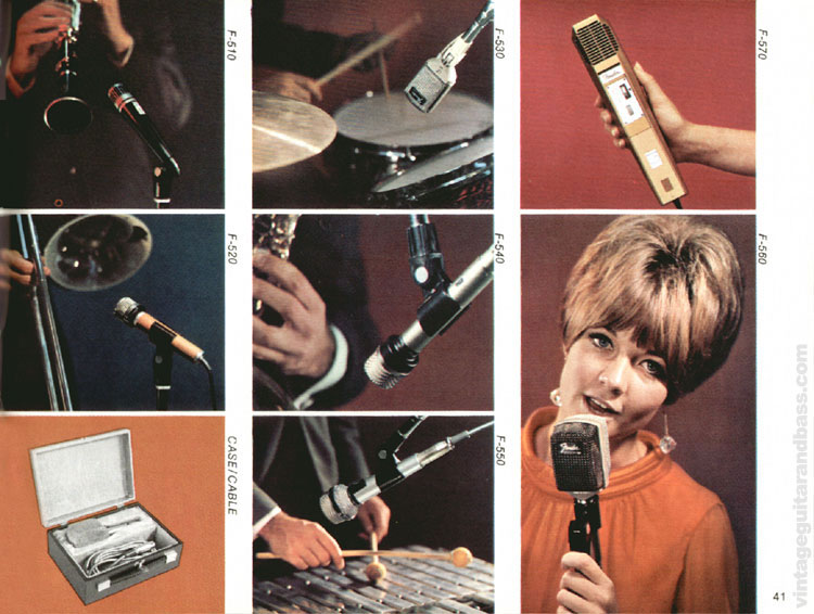 Fender Microphones - 1968 Fender catalogue - page 43