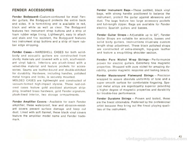 Fender Accessories - 1968 Fender catalogue - page 45