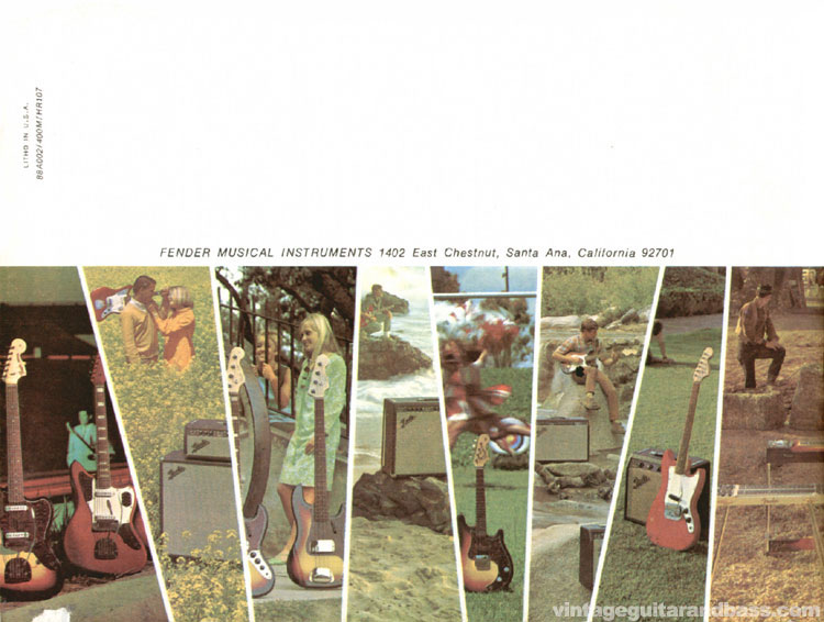 1968 Fender catalogue - Back Cover