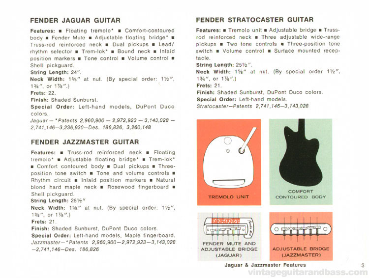 Fender Jaguar, Jazzmaster and Stratocaster - 1968 Fender catalogue - page 5
