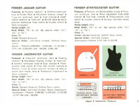 1968 Fender guitar and bass catalogue - page 5