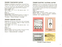 1968 Fender guitar and bass catalogue - page 7