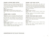 1968 Fender guitar and bass catalogue - page 9