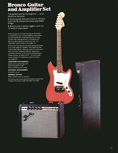 1970 Fender guitar and bass catalogue - page 11