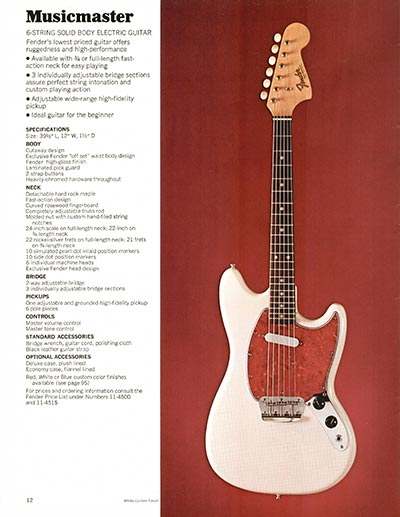 1970 Fender guitar and bass catalogue - page 12