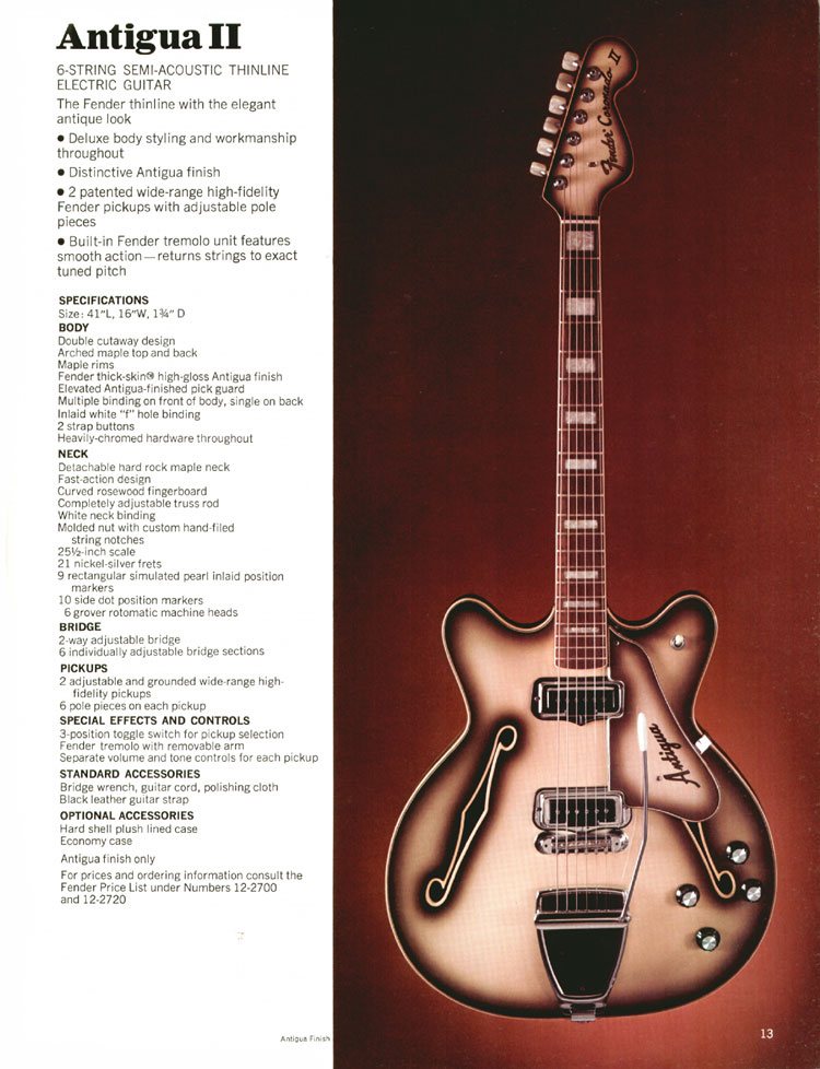 Fender Coronado / Antigua II - 1970 Fender catalogue - page 13