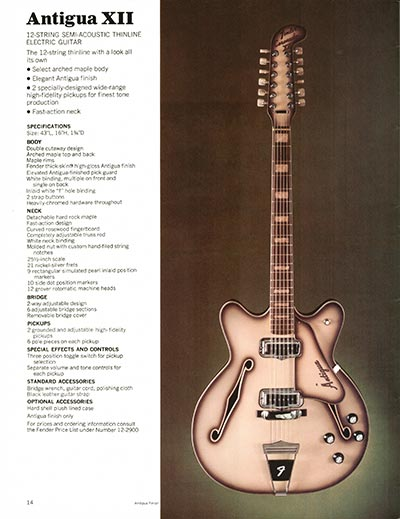 1970 Fender guitar and bass catalogue - page 14