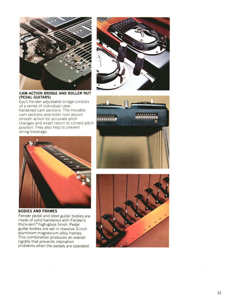 Fender Steel Guitars - 1970 Fender catalogue - page 33