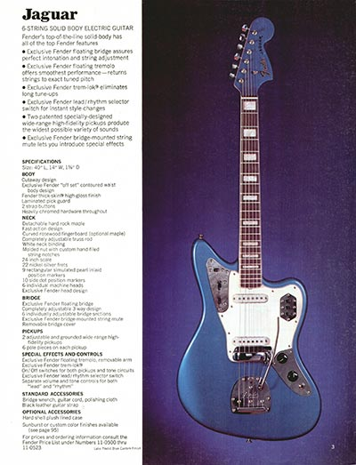 1970 Fender guitar and bass catalogue - page 3