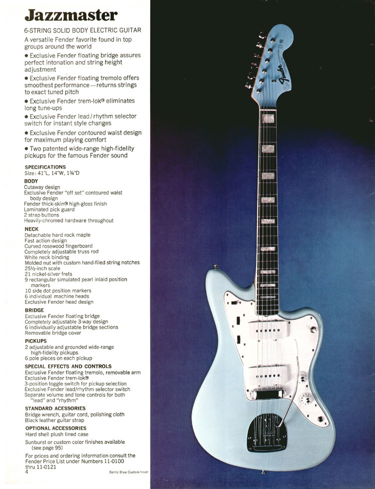 Fender Jazzmaster - 1970 Fender catalogue - page 4