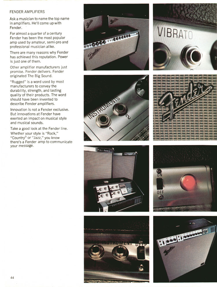 Fender Amplifiers - 1970 Fender catalogue - page 44