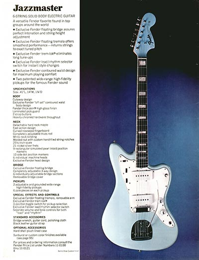 1970 Fender guitar and bass catalogue - page 4