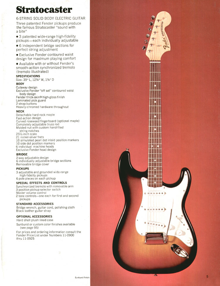 Fender Stratocaster - 1970 Fender catalogue - page 5
