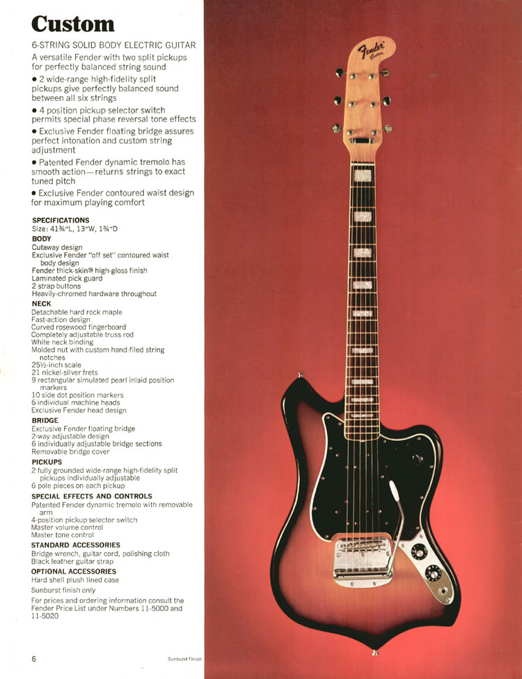 Fender Custom Guitar - 1970 Fender catalogue - page 6