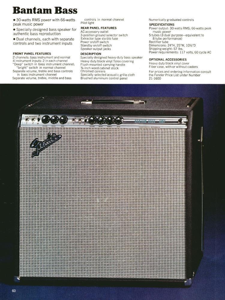 Fender Bantam Bass - 1970 Fender catalogue - page 60