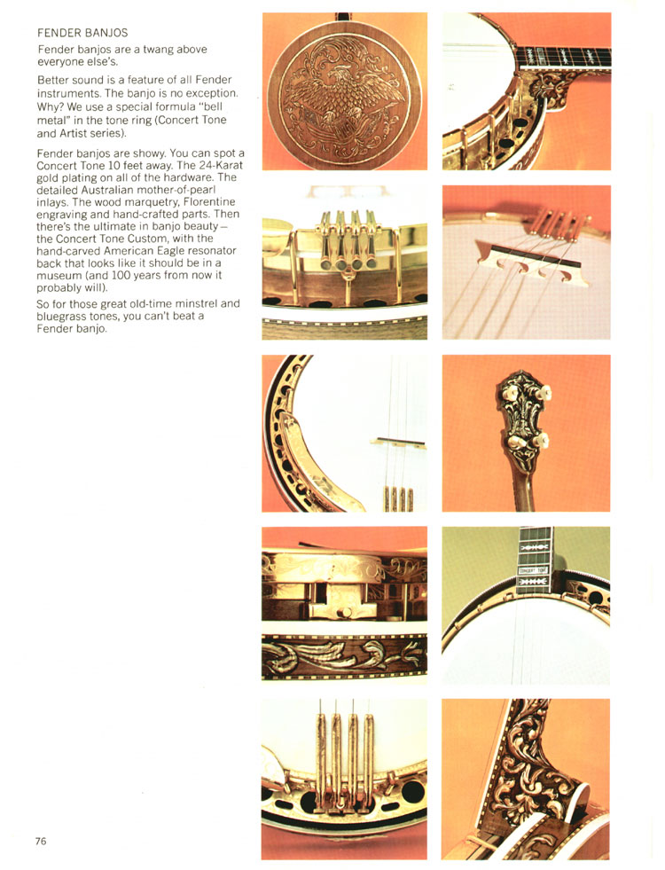 Fender Banjos - 1970 Fender catalogue - page 76