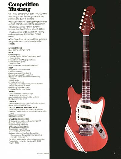 1970 Fender guitar and bass catalogue - page 9