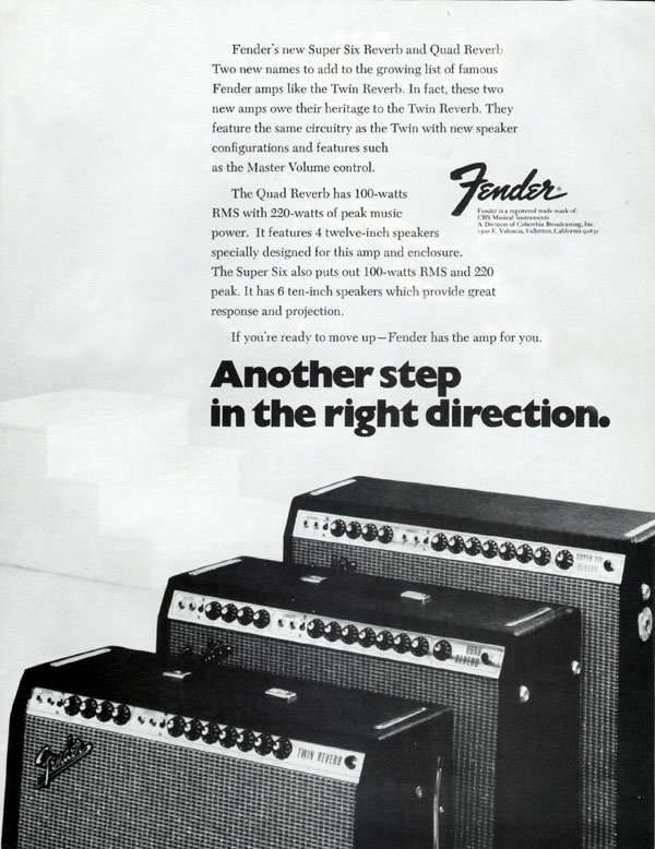 Fender advertisement (1972) Another Step In The Right Direction