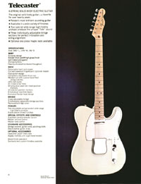 1972 Fender guitar and bass catalogue - page 10