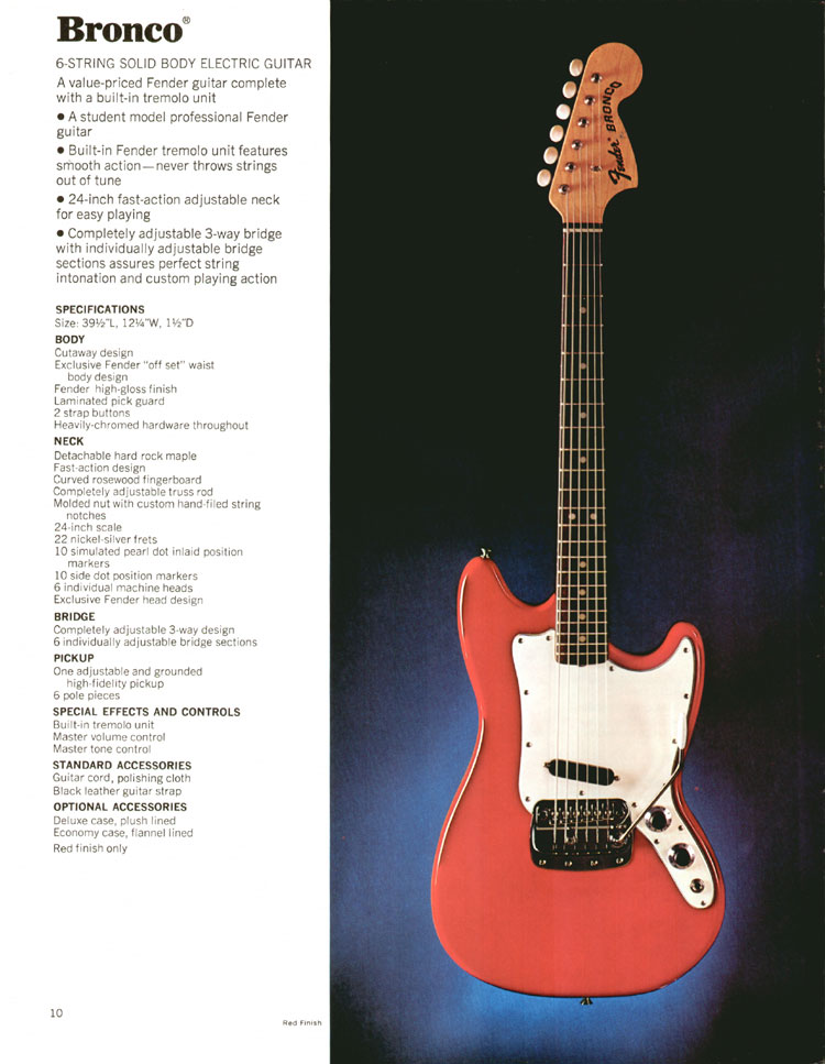 1972 Fender Bronco - 1972 Fender catalogue - page 12