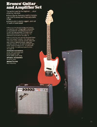 1972 Fender guitar and bass catalogue - page 13