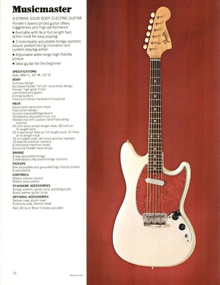Fender Musicmaster - 1972 Fender catalogue - page 14