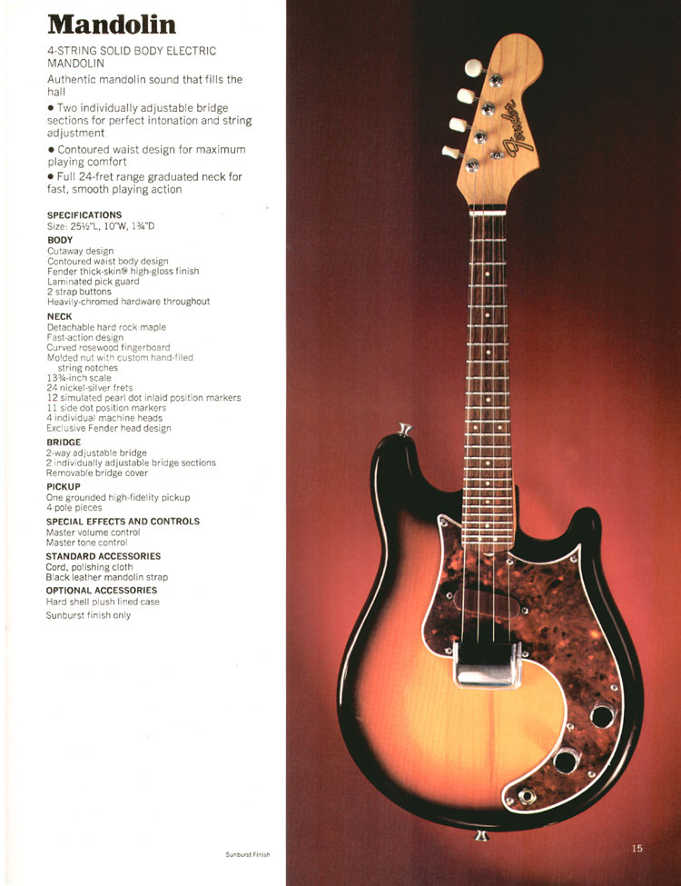 Fender Mandolin - 1972 Fender catalogue - Page 17