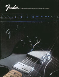 1972 Fender electric guitar and amplifier catalogue