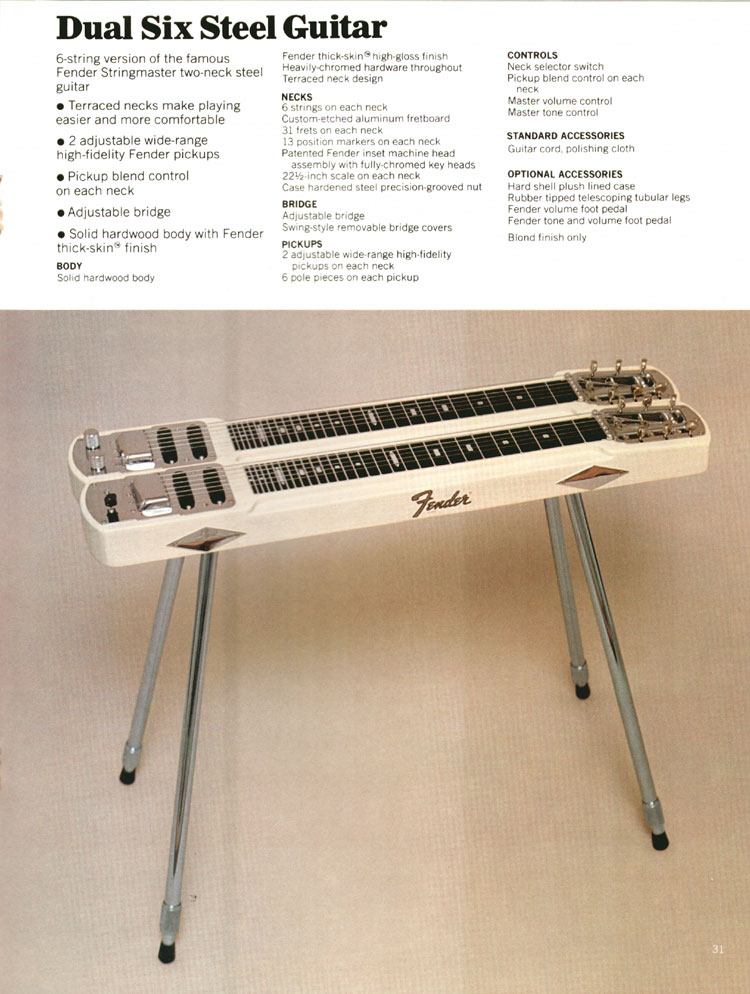 Fender Steel Guitars - 1972 Fender catalogue - page 33