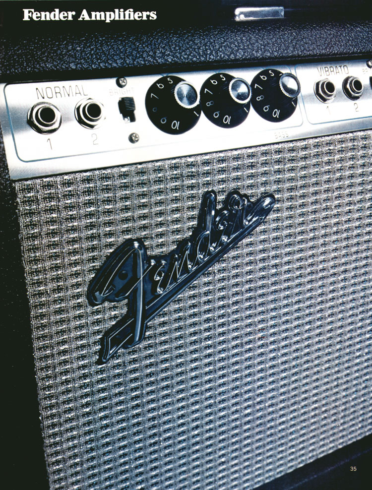 Fender Amplifiers - 1972 Fender catalogue - page 37