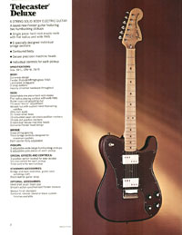 1972 Fender guitar and bass catalogue - page 4