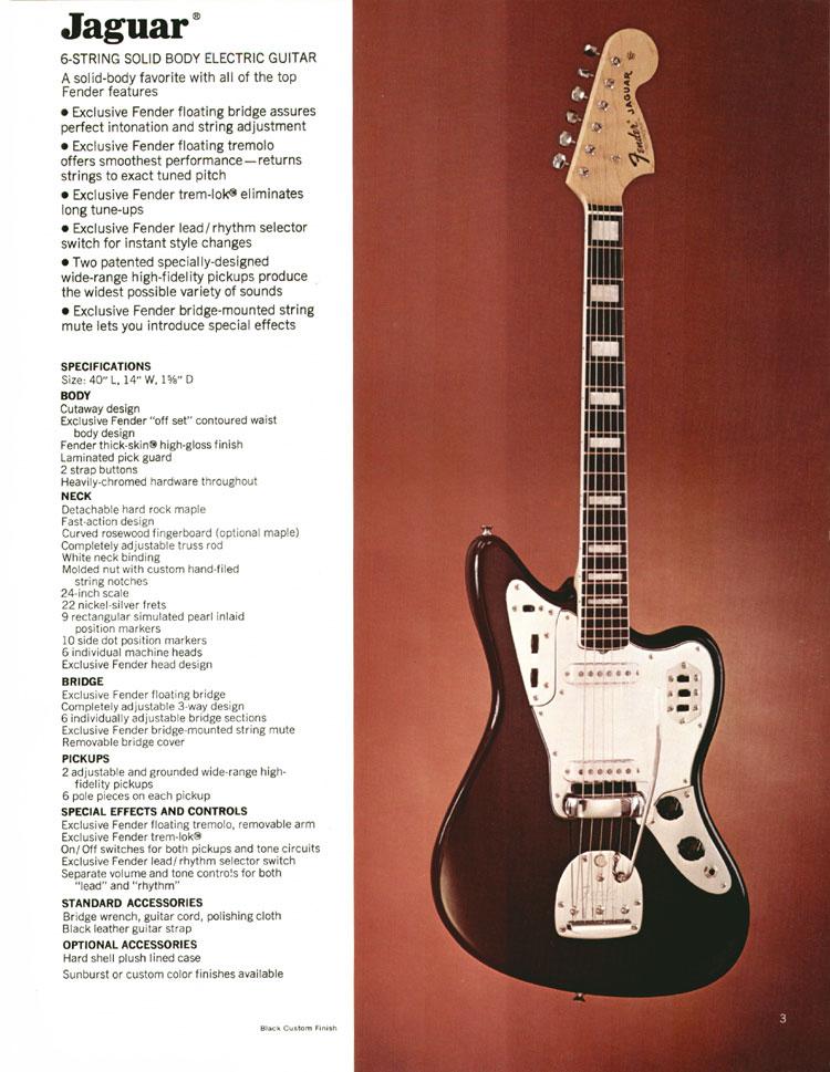 1972 Fender catalogue - page 5 - Fender Jaguar