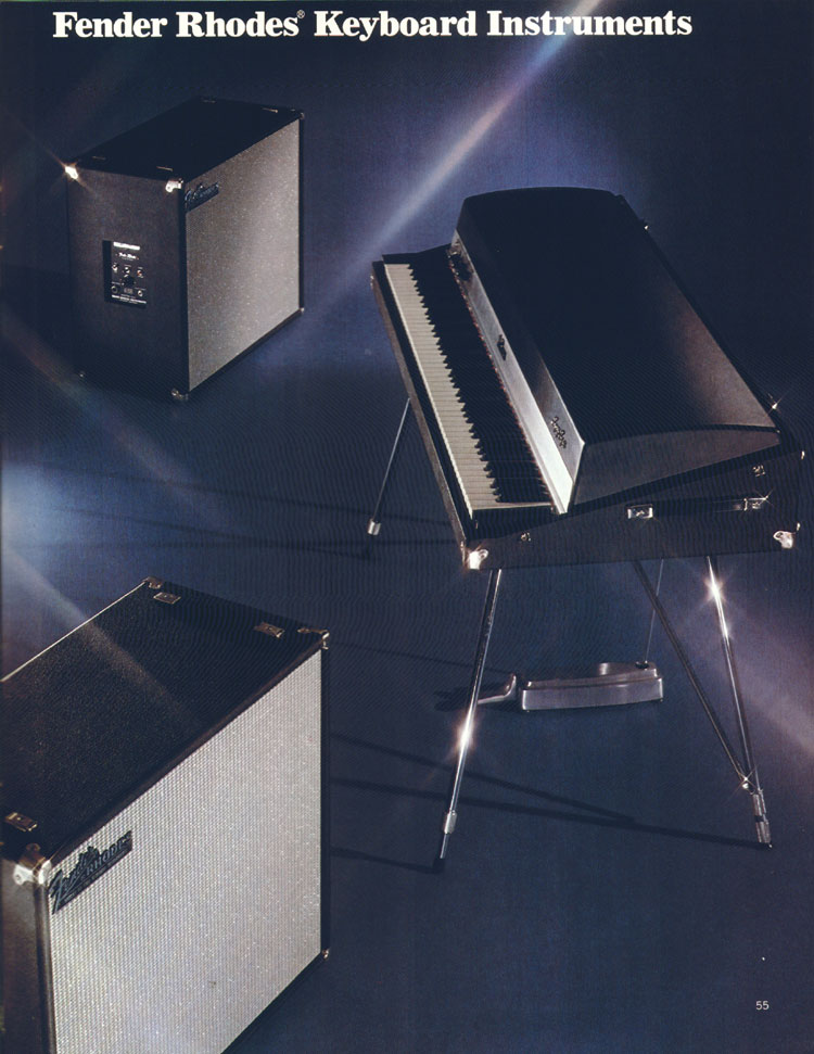 Fender Rhodes Keyboards - 1972 Fender catalogue - page 57