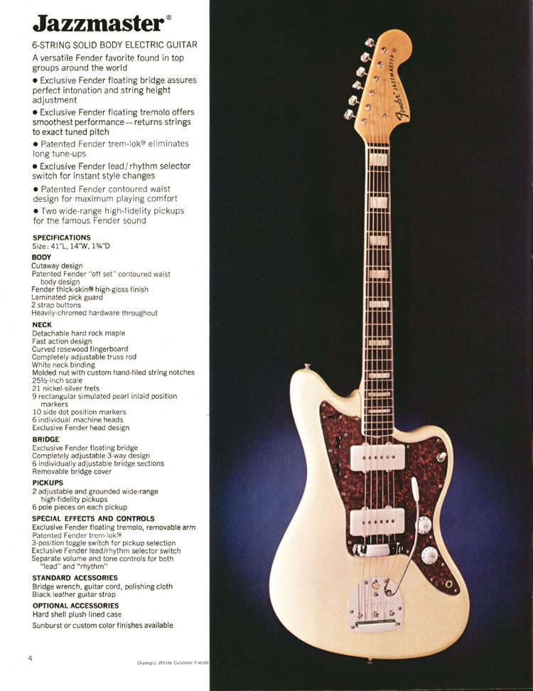1972 Fender catalogue - page 6 - Fender Jazzmaster