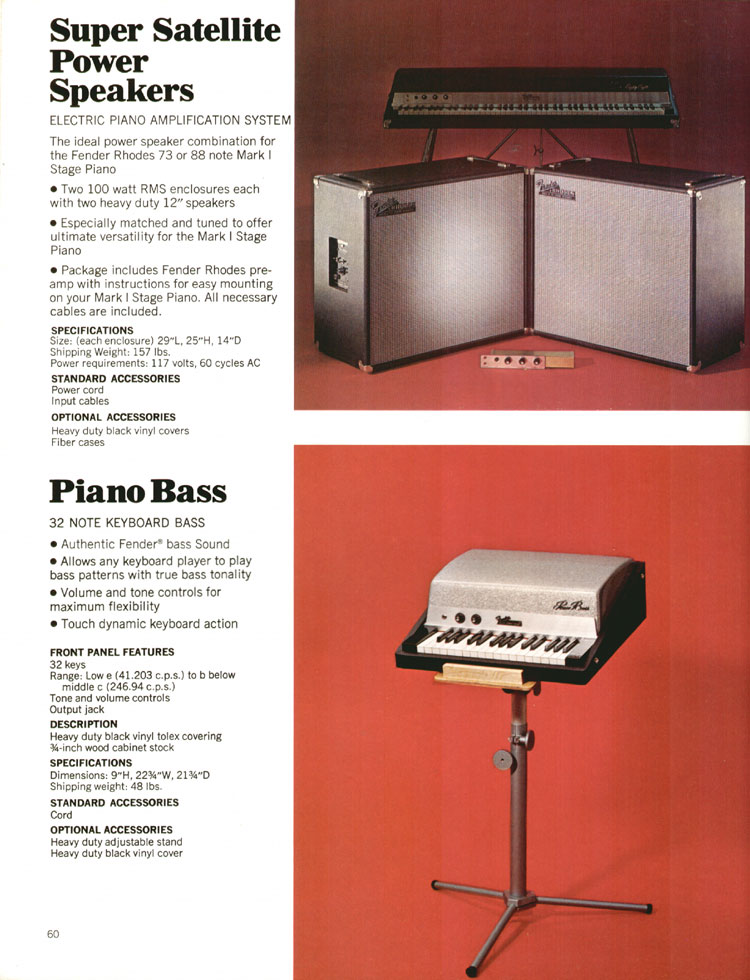 Fender Super Satellite Power Speakers - 1972 Fender catalogue - page 62